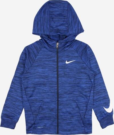 Nike Sportswear Суичъри с качулка в синьо меланж / бяло, Преглед на продукта