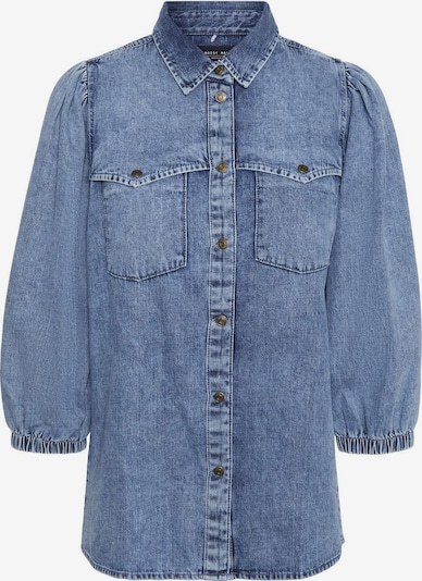 Noisy may Bluse 'Riley' in blue denim, Produktansicht