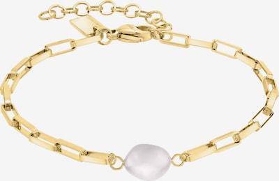 Liebeskind Berlin Bracelet en or / blanc perle, Vue avec produit
