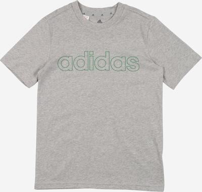 ADIDAS PERFORMANCE Funkcionalna majica | siva / zelena barva: Frontalni pogled
