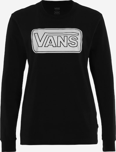 VANS Sweatshirt 'Make me your own' in de kleur Zwart / Wit: Vooraanzicht