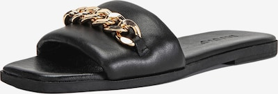 INUOVO Pantoletten in gold / schwarz, Produktansicht