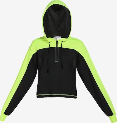 myMo ATHLSR Sportsweatshirt in neongelb / schwarz, Produktansicht