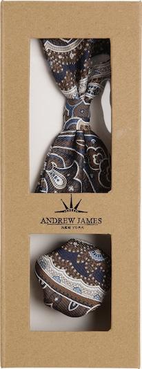Andrew James Fliege und Einstecktuch in mischfarben, Produktansicht