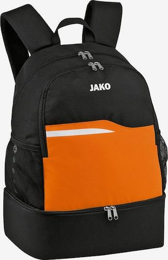 JAKO Rucksack in orange / schwarz / weiß, Produktansicht