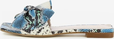 Gianluca Pisati Damen Pantolette Emy in aqua, Produktansicht