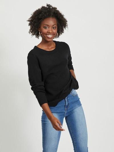 VILA Trui 'Ril' in de kleur Zwart, Modelweergave