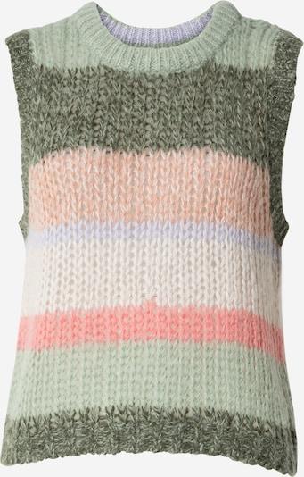 Pulover 'Karinlise' Part Two pe verde mentă / verde iarbă / mov lavandă / portocaliu piersică / roz, Vizualizare produs