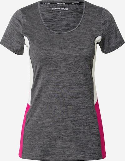 ESPRIT SPORT Camiseta funcional 'Edry' en antracita / rosa / blanco, Vista del producto