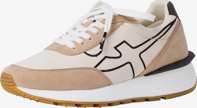 TAMARIS Sneaker in creme / camel / schwarz / weiß, Produktansicht