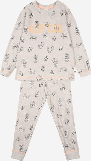 SANETTA Pajamas in grey / light grey / orange, Item view