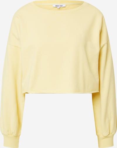 ABOUT YOU Sweat-shirt 'Liam' en jaune, Vue avec produit