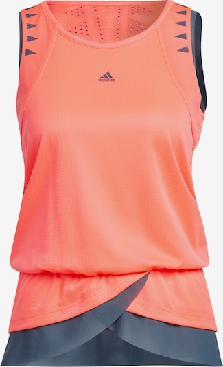 ADIDAS PERFORMANCE Tanktop in grau / orange: Frontalansicht