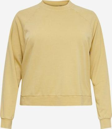 ONLY Carmakoma Sweatshirt i gul