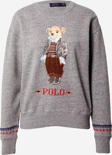 POLO RALPH LAUREN Sweatshirt i beige / mørkeblå / brun / grå, Produktvisning