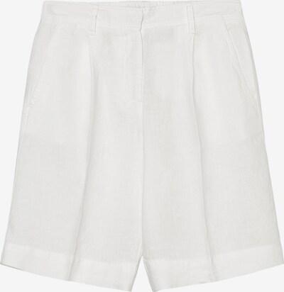 Marc O'Polo Pantalon ' aus reinem Leinen ' en blanc, Vue avec produit