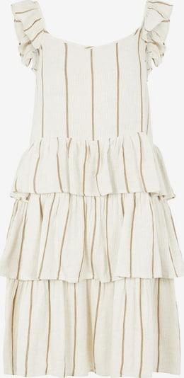 Y.A.S Kleid 'Sofia' in braun / weiß, Produktansicht