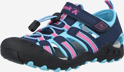 Kamik Sandale 'Crab' in türkis / nachtblau / pink, Produktansicht