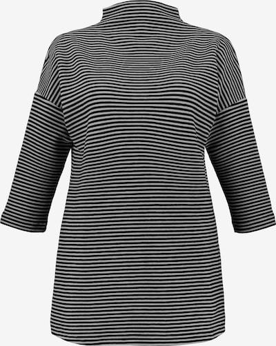 Ulla Popken Sweatshirt in grau / weiß: Frontalansicht