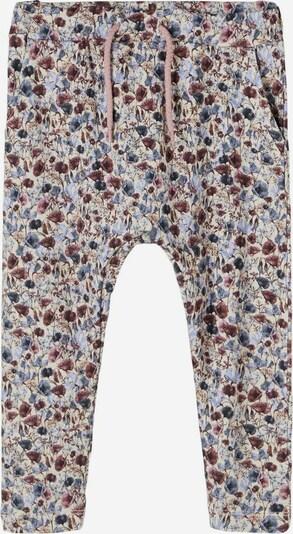 NAME IT Pantalon en beige / bleu fumé / bleu-gris / bourgogne, Vue avec produit