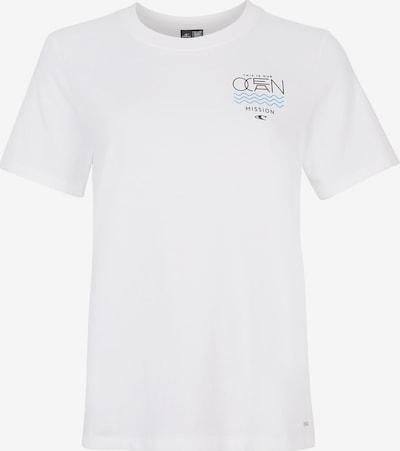 O'NEILL T-Shirt 'Pacific Ocean' in hellblau / schwarz / weiß: Frontalansicht
