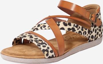 MUSTANG Sandale in Braun