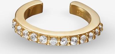 QOOQI Ohrschmuck Ear Cuff 925er Silber 12 Zirkonia in gold: Frontalansicht
