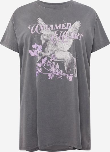 Cotton On Curve Sukienka w kolorze jasnoszary / ciemnoszary / pastelowy fioletm, Podgląd produktu