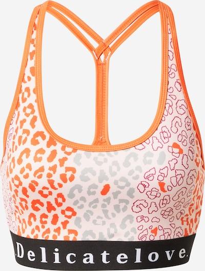 DELICATELOVE Sport-BH 'SHIVA' in grau / orange / hellpink / schwarz / weiß, Produktansicht