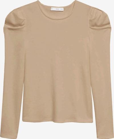 MANGO T-shirt 'Paloma' en beige, Vue avec produit