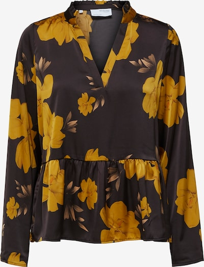 SELECTED FEMME Bluse in beige / honig / schwarz, Produktansicht