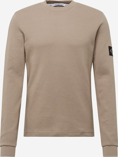 Calvin Klein Jeans Tričko - tmavobéžová / čierna, Produkt