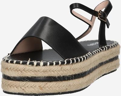 Sandale cu baretă 'MONROE' BEBO pe negru, Vizualizare produs