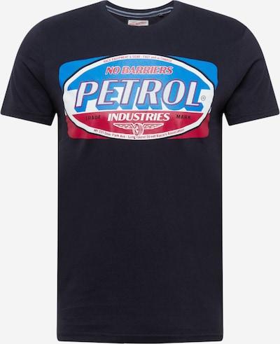 Petrol Industries Shirt en nachtblau / hellblau / grenadine / weiß, Vue avec produit