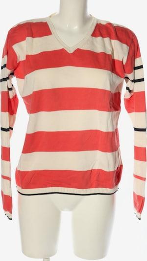 LISA CAMPIONE V-Ausschnitt-Pullover in XL in rot / schwarz / wollweiß, Produktansicht