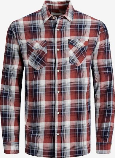 JACK & JONES Hemd in rot / schwarz / weiß, Produktansicht
