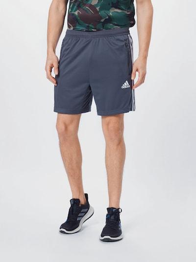 ADIDAS PERFORMANCE Športové nohavice - tmavosivá / biela, Model/-ka