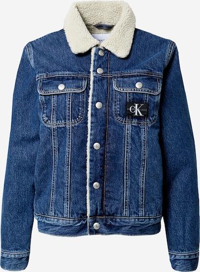 Calvin Klein Jeans Tussenjas in de kleur Blauw denim / Wit, Productweergave