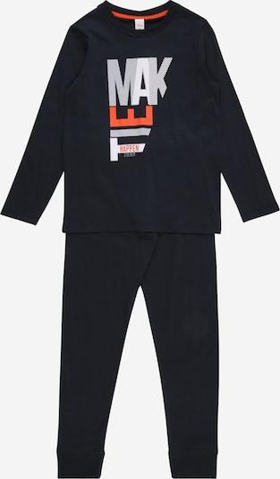 s.Oliver Junior Schlafanzug in anthrazit / rot / weiß, Produktansicht