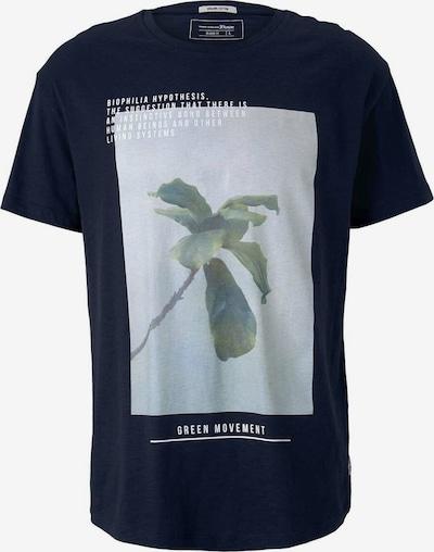 TOM TAILOR DENIM Shirt in de kleur Marine / Lichtblauw / Wit: Vooraanzicht