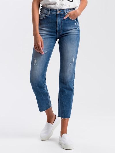 Cross Jeans Hose in blue denim, Modelansicht