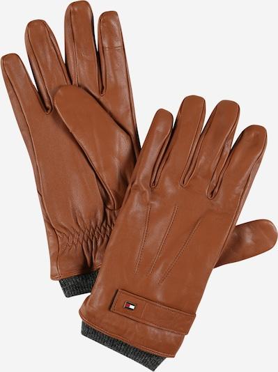 Mănuşi cu degete TOMMY HILFIGER pe șamoa / bleumarin / gri închis / roșu / alb, Vizualizare produs