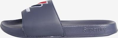 Superdry Badeschuh 'Core' in marine / rot / weiß, Produktansicht