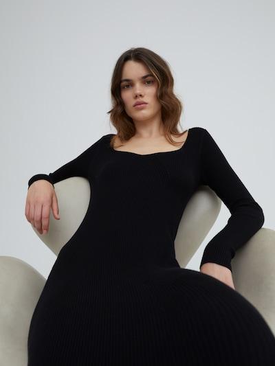 EDITED Kleid 'Catherine' in de kleur Zwart, Modelweergave