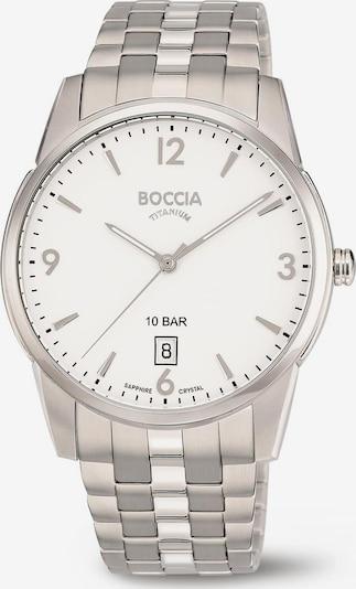 Boccia Titanium Uhr in silber / weiß, Produktansicht