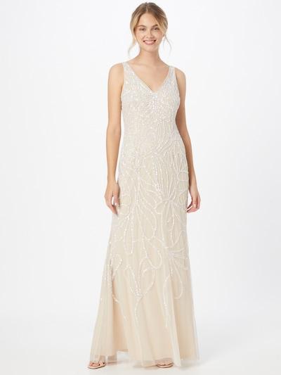 Rochie de seară Adrianna Papell pe alb lână, Vizualizare model