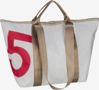 360 Grad Shopper 'Schlepper Mini' in hellbraun / blutrot / offwhite, Produktansicht
