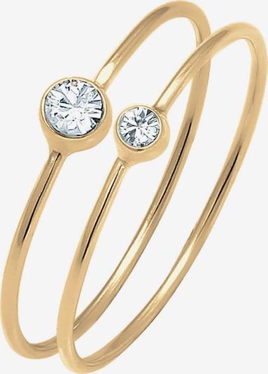 ELLI Ring in gold / weiß, Produktansicht