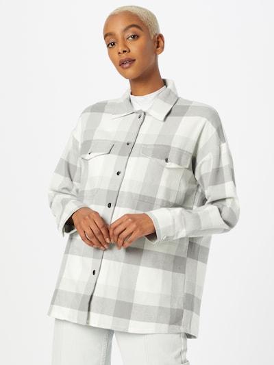Pimkie Bluse in grau / pastellgrün / weiß, Modelansicht