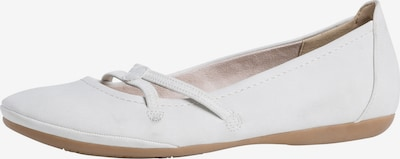 TAMARIS Ballerinasko med rem i hvid, Produktvisning